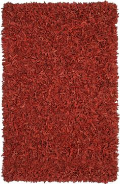 Pelle Leather Red Area Rug
