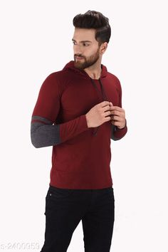 Tshirts Cotton Stylish Hooded Tshirt Fabric: Cotton  Sleeves: Sleeves Are Included  Size: S M L XL  ( Refer Size Chart For Details ) Length: Refer Size Chart Type: Stitched Description:  It Has 1 Piece Of Men's Hooded Tshirt  Pattern:  Striped    Country of Origin: India Sizes Available: S, M, L, XL   Catalog Rating: ★4.2 (807)  Catalog Name: Shapphr Cotton Stylish Hooded Tshirt Vol 10 CatalogID_321351 C70-SC1205 Code: 482-2400959-036