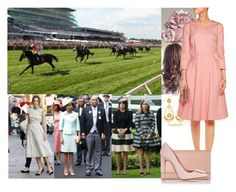 """Attending Day 1 of Royal Ascot 2013 with Ceri and meeting Princess Beatrice and Eugenie."" by duchess-danielle ❤ liked on Polyvore featuring Jennifer Meyer Jewelry, Jose & Maria Barrera, Preen, L.K.Bennett and Acne Studios"