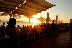 The sun about to set at Cafe Mambo    #View #Places #Summer #Ibiza #Sun #2013 #Memories #Holiday #Sun #Sunset #Fun #Party #DJ #Food #Drink #Restaurant