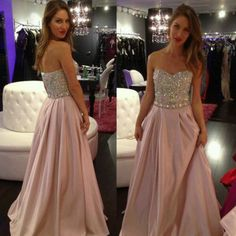 Pink Prom Dresses,Pink Evening Gowns,Simple Formal Dresses,Sweetheart Prom Dresses,Teens Fashion Evening Gown,Beadings Evening Dress,Pink Party Dress,Chiffon Prom Gowns