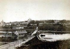Brohuset ved Randersvej, Viborg. I baggrunden ses blandt andet Brænderigården 1870-1879