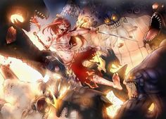 FAIRY TAIL Erza vs 100 monsters