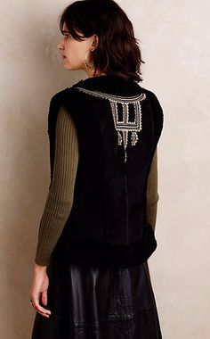 Embroidered Sherpa Vest #anthroregistry