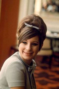 Love Barbra's hair in the 60s. Especially love the swept bangs. Biddy Craft