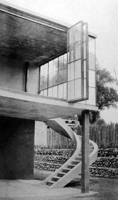 Tamsin Johnson - Funcionalismo Home Mexico Cities Modern Architecture Juan O' Gorman En Palma Glasses - Architecture Résidentielle, Beautiful Architecture, Brutalist, Architectural Elements, Exterior Design, Arches, Mexico City, Mexico House, Diego Rivera