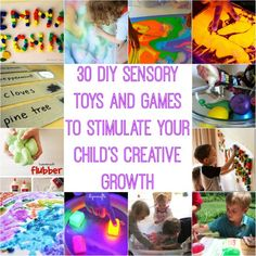 30 DIY Sensory Toys and Games to Stimulate Your Child's Creative Growth...