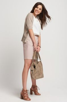 Bavlněná sukně chino s páskem | ORSAY