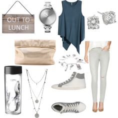 Lunch Break  by mack-n-chill on Polyvore featuring polyvore, fashion, style, H&M, 7 For All Mankind, Superga, Marie Turnor, Georg Jensen, Crislu, Vince Camuto and Garden Trading