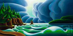 Siwash Storm ~ by Dana Irving School Board Decoration, Art And Craft Design, Sky Art, Abstract Drawings, Beach Art, Watercolor And Ink, Photo Art, Folk Art, Illustration Art