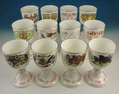 12 Royal Doulton The Twelve Days of Christmas Goblet Set Box Limited Edition NR | eBay