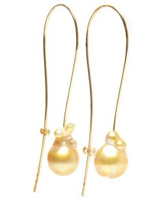 76179b3eb IBU 18k Yellow Gold and Baroque Pearl Earrings Women Jewelry, Jewelry  Accessories, Jewelry Trends
