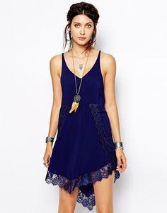 Enlarge Free People Slip Dress in Eyelash Lace