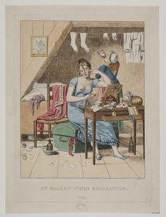 'En falden piges biografi nr 3' ('Biography of a fallen girl, nr 3') after an original by C.W. Eckersberg 1808; Danish, 1811. Statens Museum for Kunst, nr. KKS16314