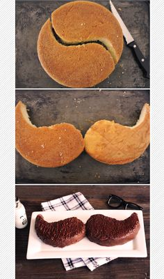 DIY: Father's Day mustache cake!