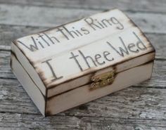 ring bearer box.