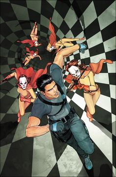 Cover for Grayson #4 (2014) Art by Mikel Janin