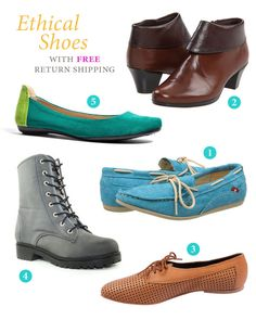Don't roll the dice on finding the perfect pair of ethical shoes. These brands offer free return shipping so you can be sure you're happy with your fair footwear.