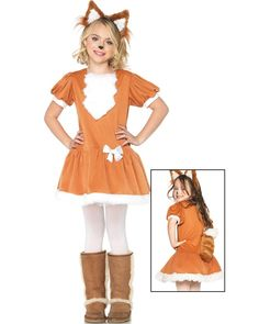 Feisty Fox Girls Costume