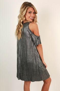 Shooting Star Shift Dress in Chrome New Years!