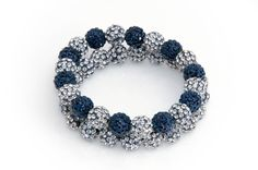 Dallas Cowboys Shamballa Beaded Bracelet by TeamWraps on Etsy