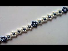 DIY Jewelry for summer. Beaded flowers bracelet -easy pattern - YouTube