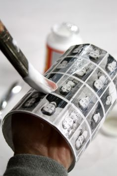 creative class reunion ideas | Go over the photos with another coat of the Mod Podge and let it dry ...