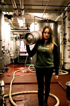 GIRLS LOVE BEER! Tiffany Harrington-- on the bottling line at The Pike Brewing Company