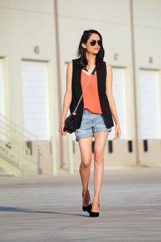 Summer Date Outfit Idea | Summer Look | Summer Outfit | Boyfriend Shorts