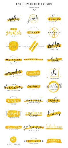 120 Feminine Branding Logos by Davide Bassu on Creative Mark.- 120 Feminine Branding Logos by Davide Bassu on Creative Market 120 Feminine Branding Logos by Davide Bassu on Creative Market - Boutique Logo, Design Graphique, Art Graphique, Logo Inspiration, Logo Branding, Branding Ideas, Typography Logo Design, Cake Branding, Photoshop Logo