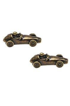 Mag Mouch Antique Racing Car Cufflink