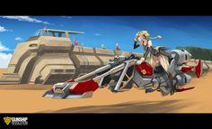Girl in Hoverbike by GunshipRevolution on DeviantArt