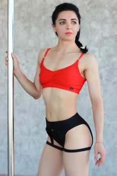 Pole Dance Wear, Pole Dancing Fitness, Fitness Photos, Tights Outfit, Skin Tight, Black Shorts, Leotards, Exotic, Sexy