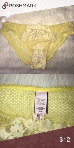 Victoria's Secret Dream Angels Crochet Lace bikini New with tags VS Dream Angels yellow Crochet Lace bikini panty Victoria's Secret Intimates & Sleepwear Panties