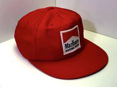Early 1990s Marlboro Cigarettes Snap Back // Red White Marlboro Logo Trucker Hat // Marlboro Racing Team Baseball Cap // Tobacco Collectibles // Vintage Cap with Sweatband // Logo Trucker Cap // Unisex Hat // Adjustable Snap Back Hat // Marlboro Collectibles // Tobacco and Smoking Collectors Item // Vintage Tobacciana // Vintage Marlboro Hat // Embroidered Marlboro Logo Hat ...