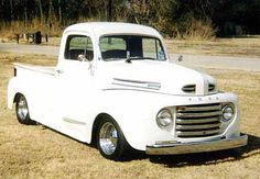 love this restored old white truck