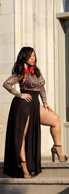 Cheetah print: Plus size fashion