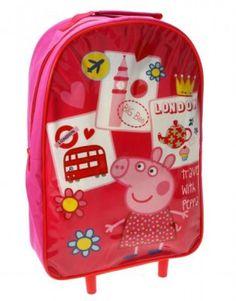 Peppa Pig Zaino Trolley Asilo per Bambino, Scuola e Asilo, Zaini e Trolley -