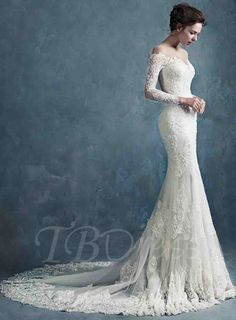 Tbdress.com offers high quality Sheer Scoop Neck Zipper-Up Long Sleeves Lace Mermaid Wedding Dress Latest Wedding Dresses unit price of $ 284.99.