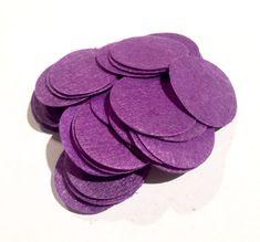 "1.5"" purple felt circles / 25-50 pieces"