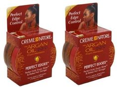 One of my faves, and I like the scent... Creme of Nature Argan Oil Perfect Edges Control Hair Gel-2.25 oz (Pack of 2)