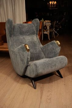 Anonymous; 'Cadillac' Lounge Chair by Erton, c1952.