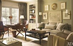I am loving this room.  It looks collected and warm and comfortable.