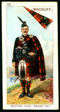 "Mitchell's Cigarettes ""Scottish Clan Series"" 1903. #17 MacDuff 