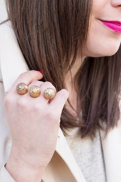 ADVENTURES IN FASHION: DIY || #DIY Kendra Scott Inspired Two-Finger Ring #Tutorial