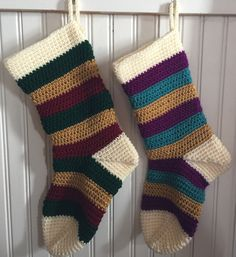 A number of years ago, after I had re-taught myself how to crochet, I decided to make my children, husband and myself Christmas stockings. We picked our favorite colors and what I produced was stoc...