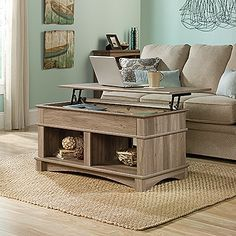 Let it come to you - literally! We love the lift-top table for an easy and comfortable work space.