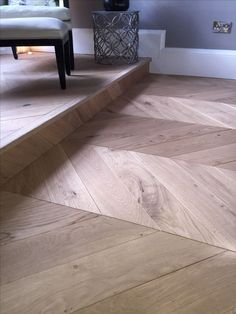 Another Happy Costumer. Natural Oak. Engineered Oak Chevron Parquet Flooring  Supplied And Fitted By