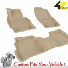 3D Fits 2013-2015 Mazda CX-5 G3AC42653 Tan Waterproof Front and Rear Car Parts F