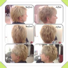 Toned down blonde on a choppy layered style, hair by stylist jasmine